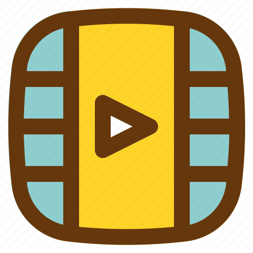 android, aplication, app, phone, player, video icon
