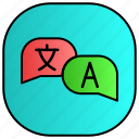 android, aplication, app, phone, translate icon