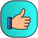 android, aplication, app, like, phone, thumb, up icon