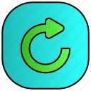 android, aplication, app, phone, reload icon