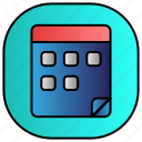 android, aplication, app, calender, phone icon