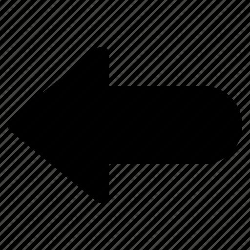 arrow, back, direction, left, undo icon