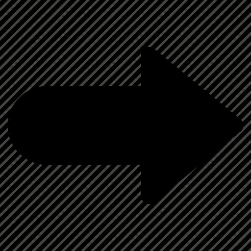 arrow, direction, forward, redo, right icon