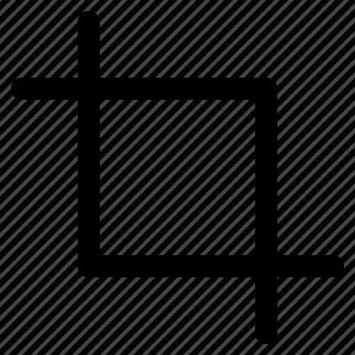 crop, edit, resize, rotate, trim icon