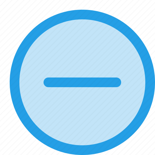 circle, interface, minus, outline, remove, subtract icon
