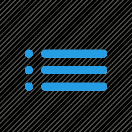bullets, format, formatting, items, list, menu icon