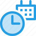 calender, clock, date, event, planning, schedule, time icon
