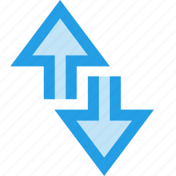 arrow, data, down, edge, internet, network, up icon