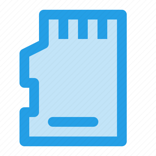 chip, memorycard, microsd, outline, sd, sdcard, storage icon