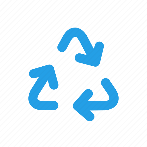arrows, bin, recycle, recyclebin, sign, trash, triangle icon