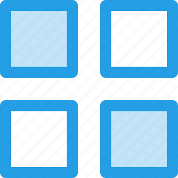 android, app, application, grid, menu, outline, view icon