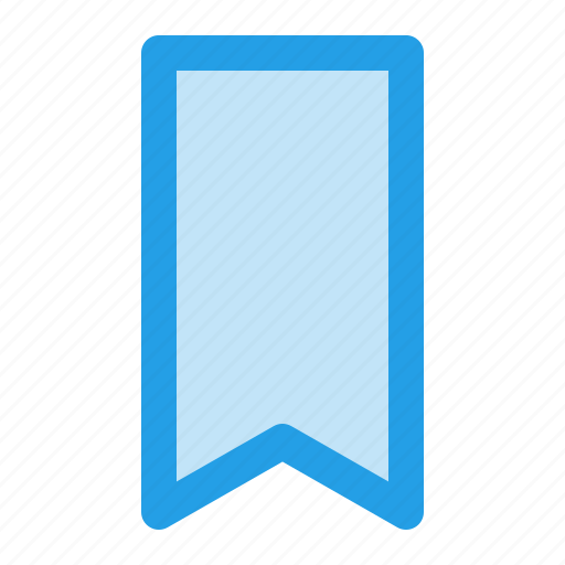 bookmark, favourite, mark, marker, ribbon, tick icon