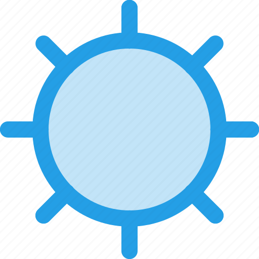 adjust, brightness, full, interface, light, no, sun icon