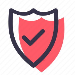 firewall, guard, on, protection, secure, security, shield icon