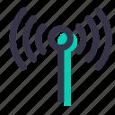 antenna, signal, wifi, electronics, radiowaves, technology icon