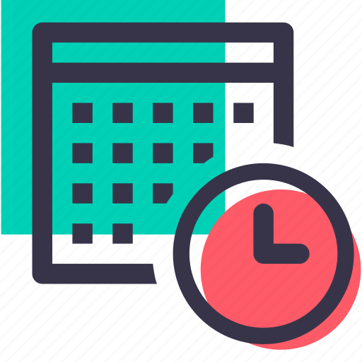 calender, clock, date, day, event, schedule, time icon