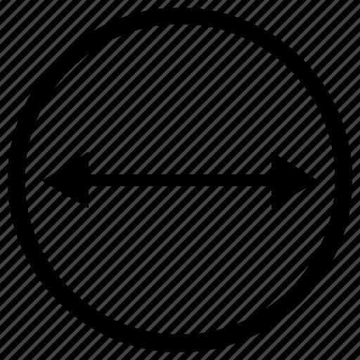 circle, diameter, geometry, round icon