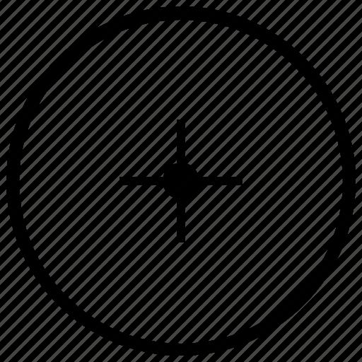 center, circle, dot, geometry, round icon
