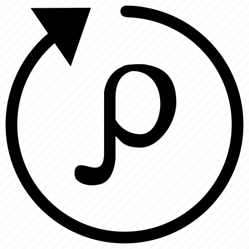 alphabet, denseness, density, greek, letter, p, solidity icon