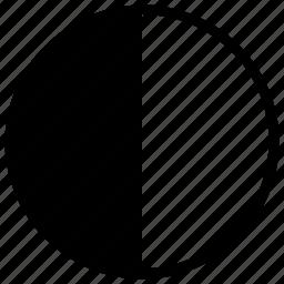 circle, geometry, half, round icon