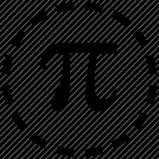 alphabet, const, constanta, geometry, greek, math, pi icon
