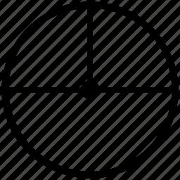 center, circle, diameter, geometry, radius, round icon