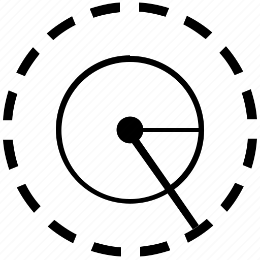 angle, circle, geometry, rotate, round icon