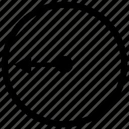 circle, geometry, radius, round icon