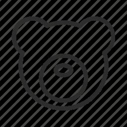 animal, bear, cute, face, head, wildlife icon