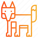 animal, fox, wildlife, zoo icon