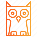 animal, bird, owl, poultry icon