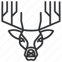 animal, antler, caribou, deer, horn, reindeer, stag icon