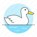 animal, birds, fauna, goose, swimmimg, swimming, vertebrate, water, waterfowl icon