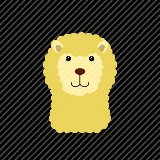 alpaca, animal, mud horse, sheep icon