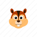 animal, chipmunk, cute, possum, squirrel icon