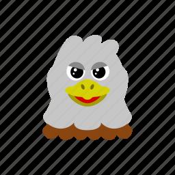 animal, bird, eagle, fly icon