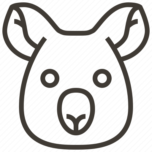 animal, bear, face, head, koala icon