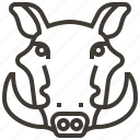 animal, boar, face, head, pig icon