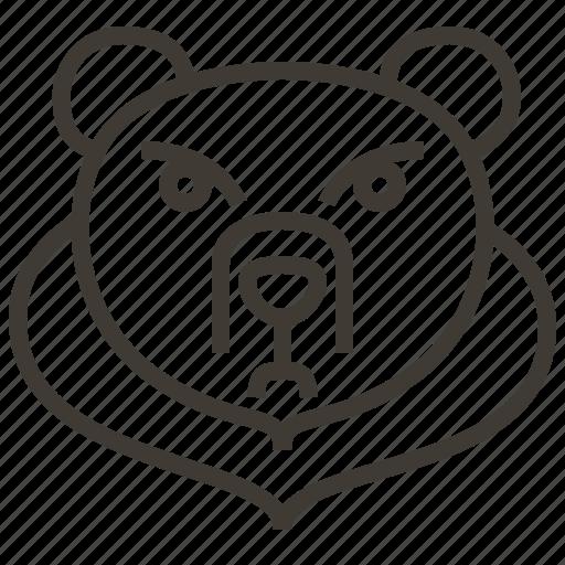 animal, bear, face, head icon
