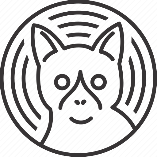 animal, cat, circle, line, lineart, pattern icon