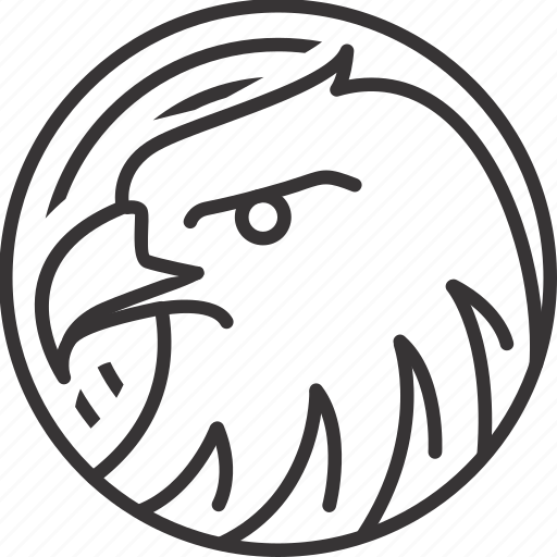 animal, circle, eagle, line, lineart, pattern icon