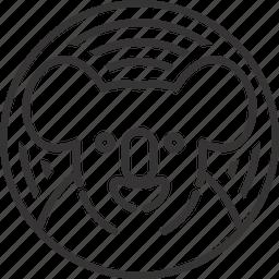 animal, circle, koala, line, lineart, pattern icon