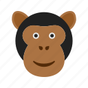 ape, face, forest, gorilla, monkey, nature, wildlife icon