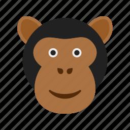 ape, face, forest, gorilla, monkey, nature, wildlife icon