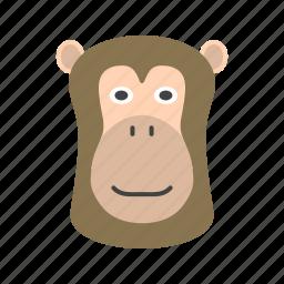 africa, animal, ape, baboon, baboons, face, park icon