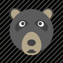 bear, cub, ice, night. cold, polar, wild icon