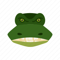 crocodile, face, head, mouth, nature, tail, wildlife icon