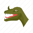 animal, big, dangerous, dino, dinosaur, face, predator icon