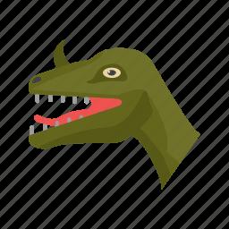 animal, big, dangerous, dino, dinosaur, face, predator icon