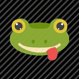 amphibian, animal, frog, green, jump, tropical, water icon